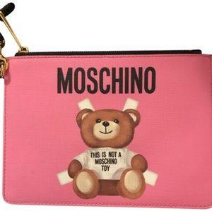 Moschino Teddy Bear Leather Clutch